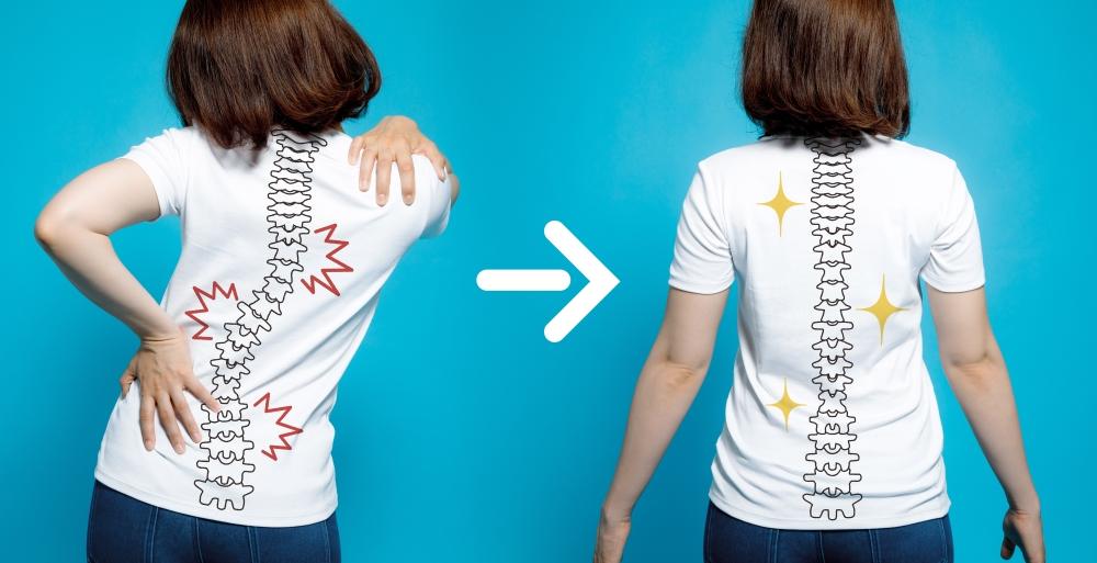 Buenas posturas para la espalda en el posparto y siempre